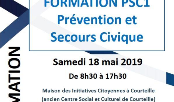 Prochaine formation : PSC1 – Alençon, 28 novembre 2020