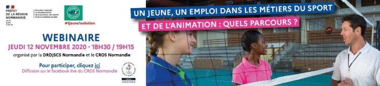 """Webinaire """"Un Jeune, un emploi dans les métiers du sport"""""""