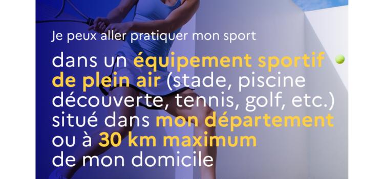 Décisions sanitaires pour le sport à partir du 3 avril